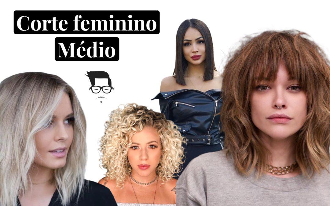 Corte de cabelo feminino médio