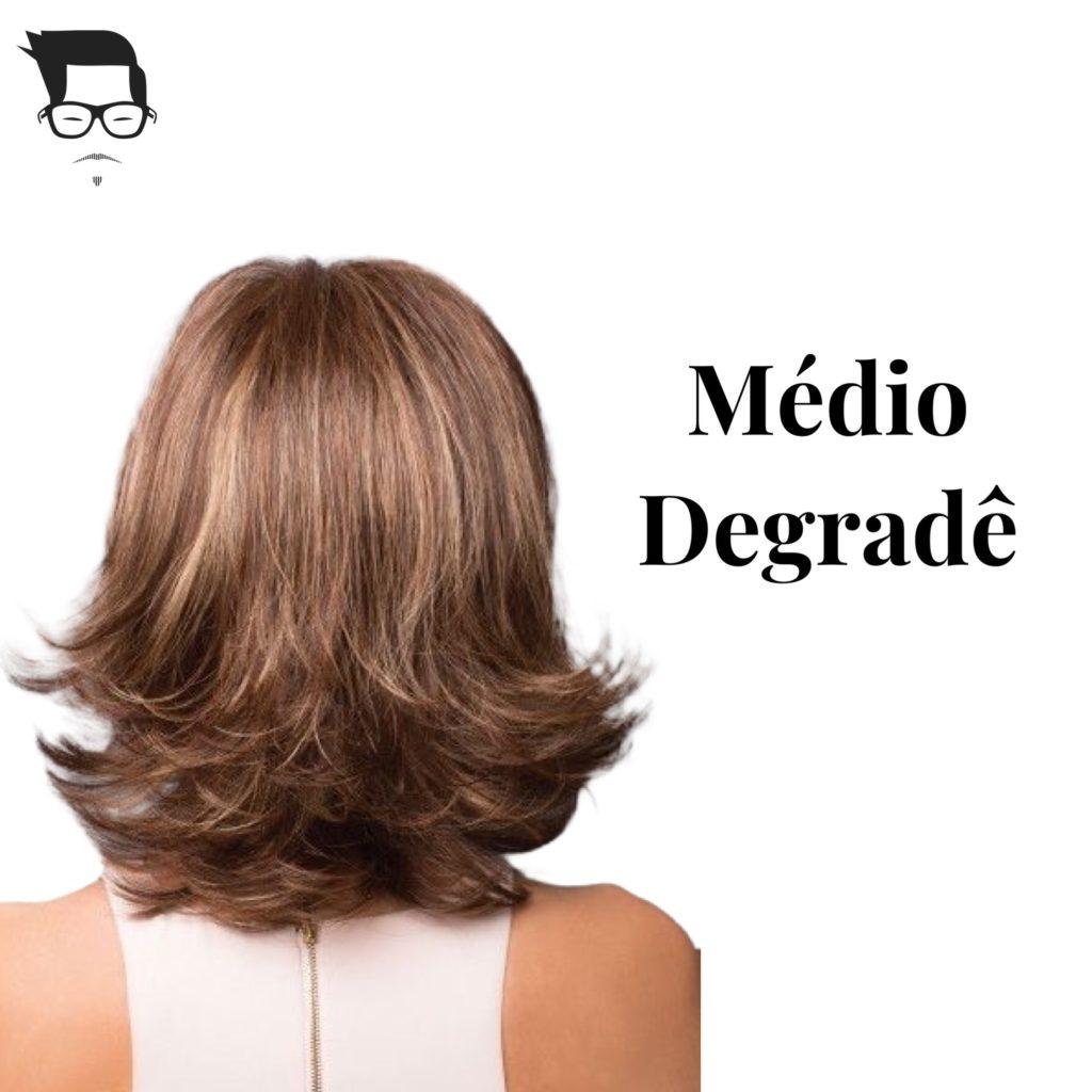 corte de cabelo feminino médio degradê