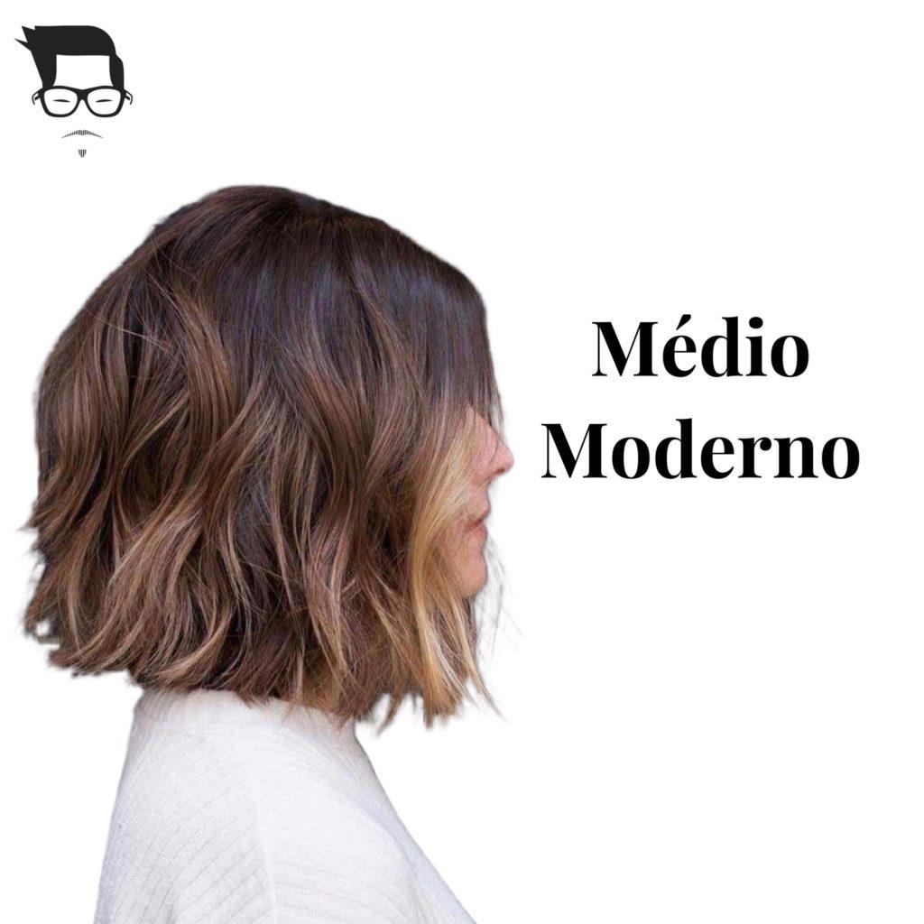 corte de cabelo  moderno cabelo médio moderno