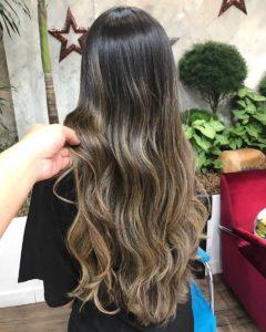 tons de cabelo - castanho iluminado