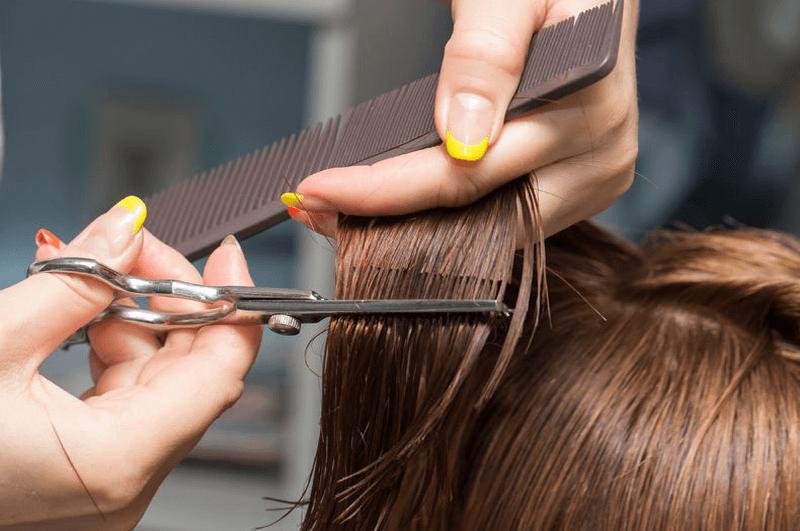 Salão de beleza para cabelos secos