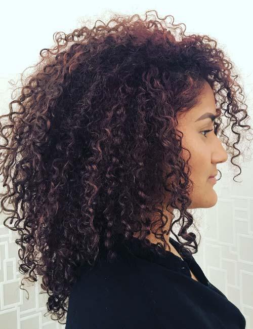 Super longbob corte cabelo cacheado