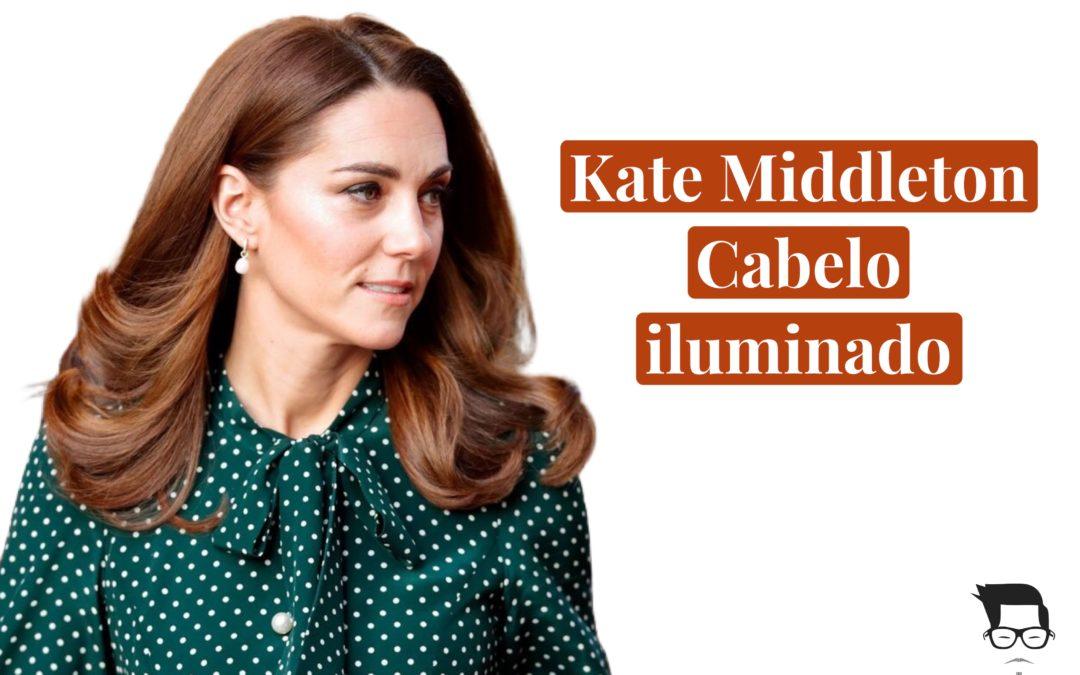 """Cabelo iluminado"" Duquesa Kate Middleton estréia  look"