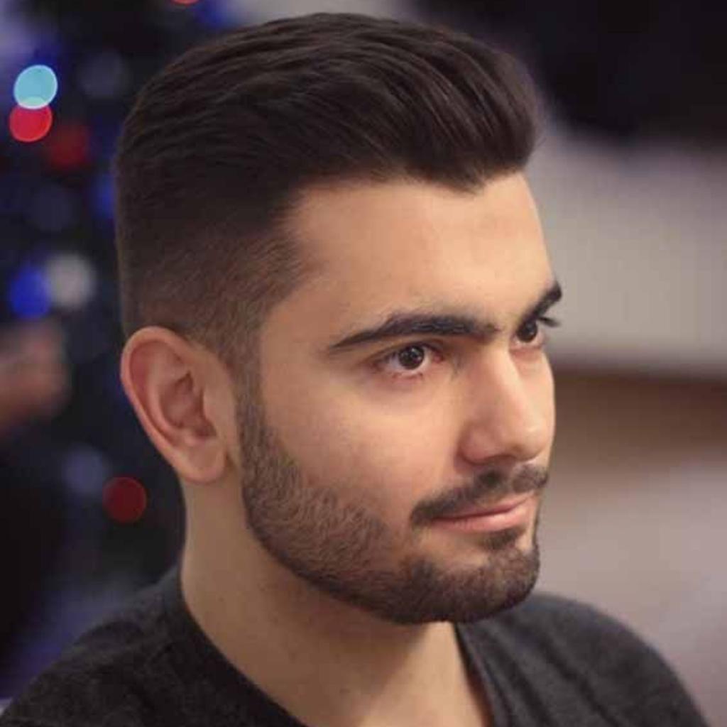 corte de cabelo masculino topete pra tras