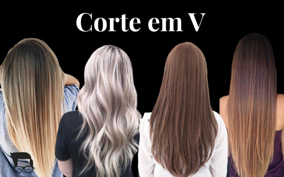 Corte de cabelo feminino longo V