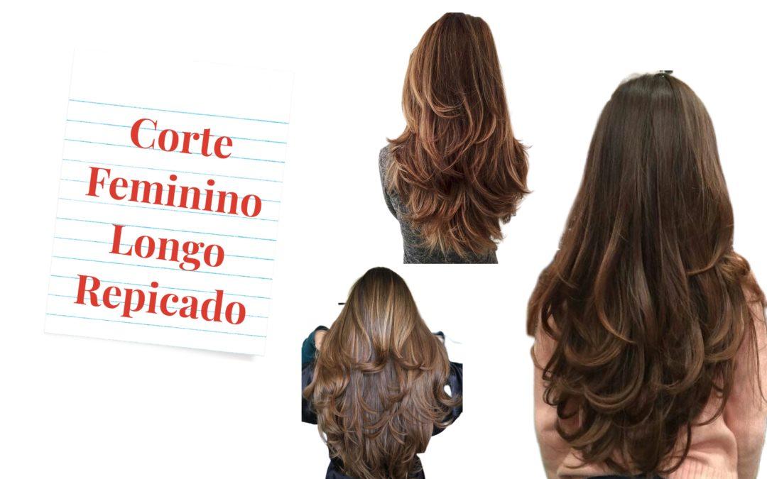 Corte de cabelo feminino longo repicado