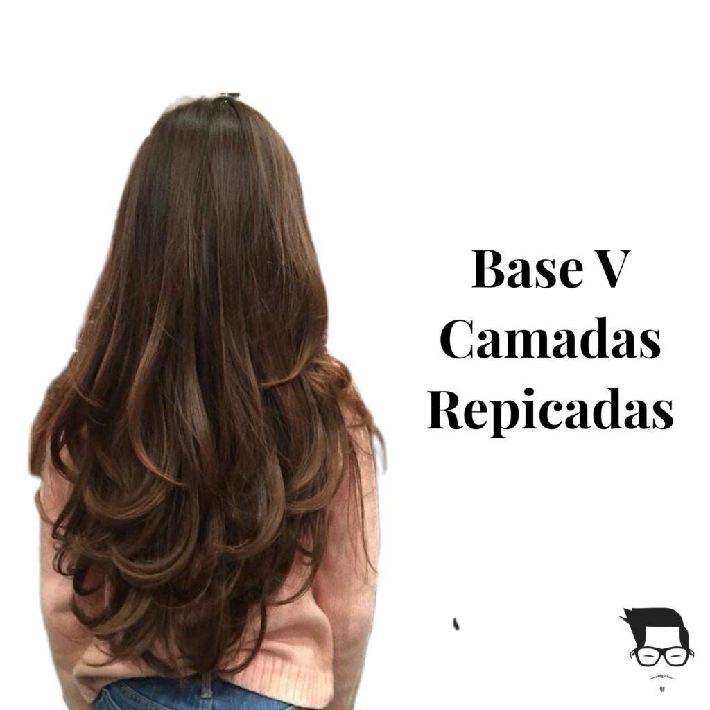 cabelo feminino longo repicado base v
