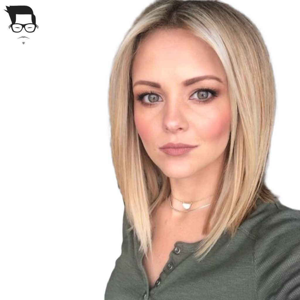 corte de cabelo médio reto feminino