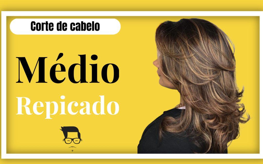 Corte de cabelo feminino médio repicado