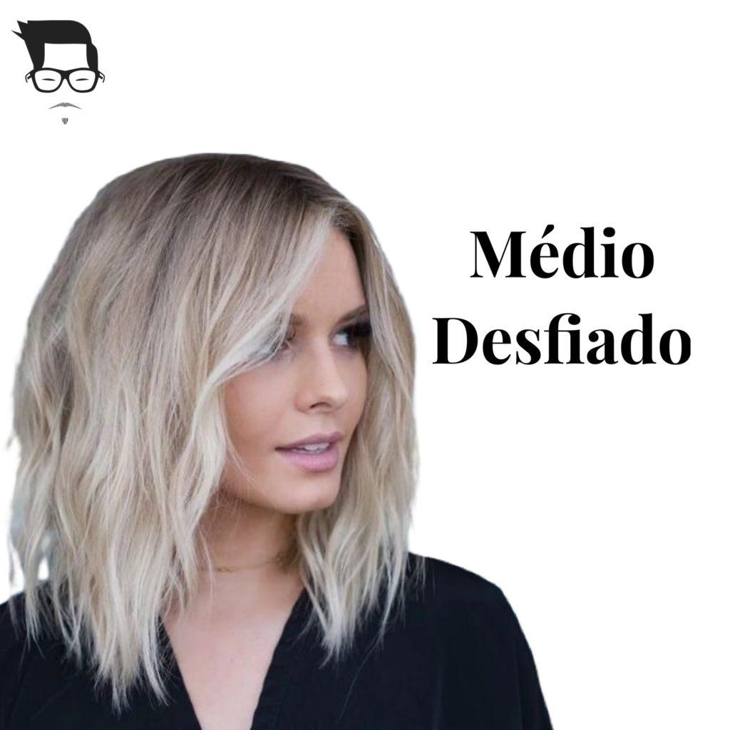 corte de cabelo feminino médio desfiado