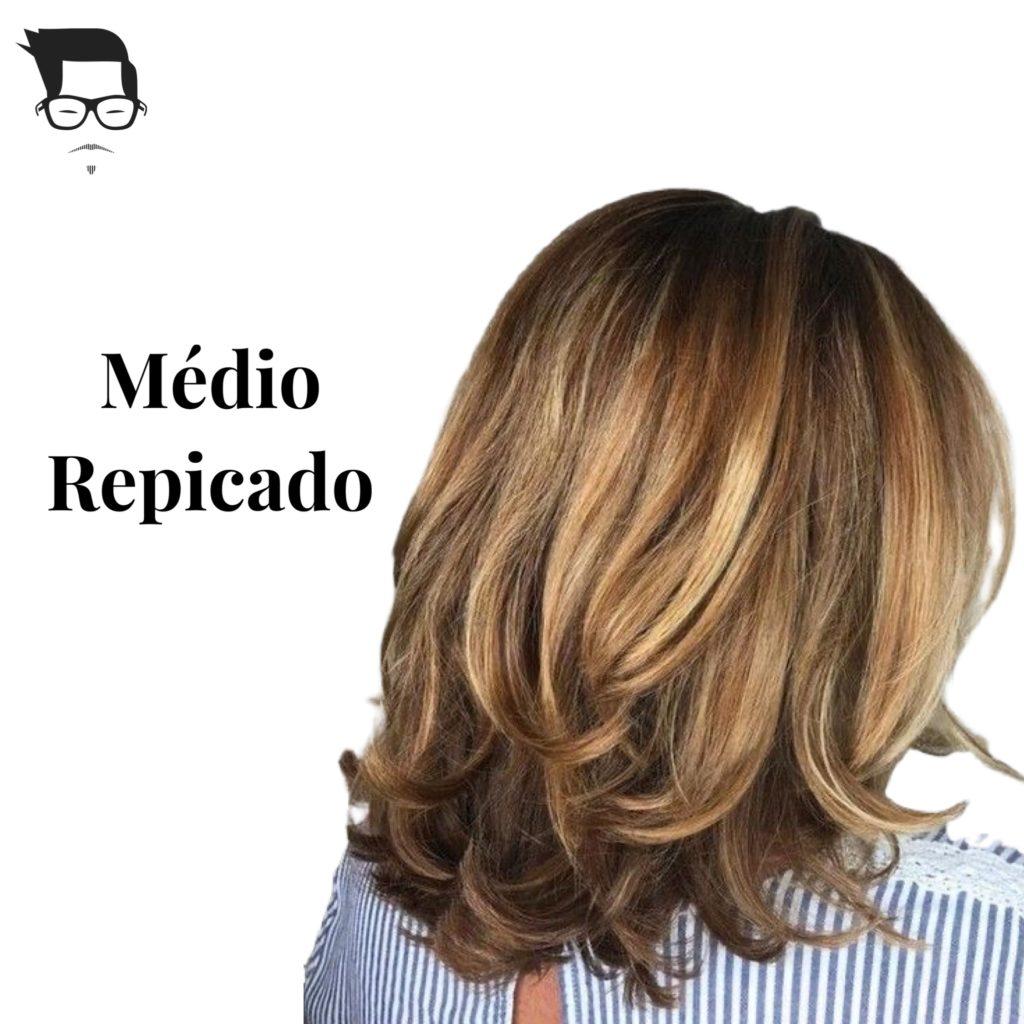 corte fr cabelo médio repicado